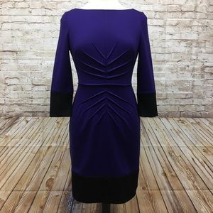 Jessica Simpson Dress Size 6 3/4 Sleeve Purple